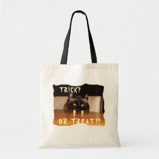 、おもしろいかわいい、吸血鬼猫 トートバッグ