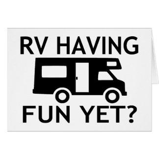 おもしろいけれどもおもしろいな言葉遊びを持っているRV グリーティングカード