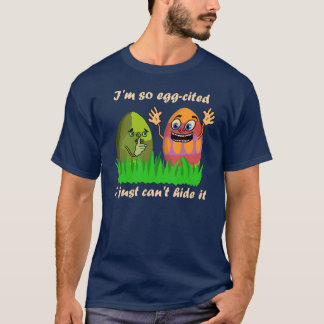 おもしろいでかわいいイースターエッグの漫画 Tシャツ
