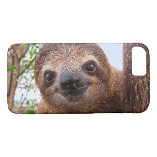 おもしろいでかわいいペット写真の怠惰動物 iPhone 8/7ケース
