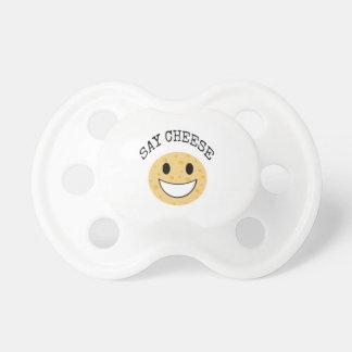 おもしろいでかわいい冗談はチーズを言います おしゃぶり