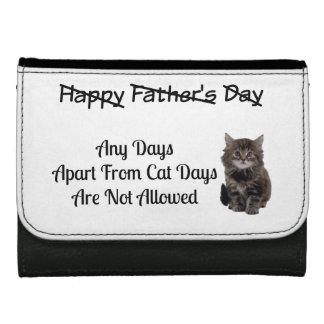 おもしろいでかわいい子ネコの父の日の革財布