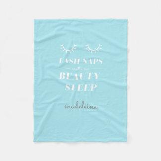 おもしろいでかわいい引用文の鞭の昼寝毛布 フリースブランケット