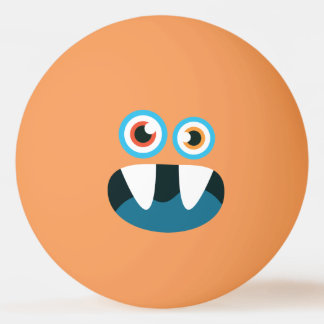 おもしろいでかわいく青いモンスター 卓球ボール