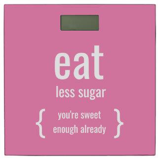 おもしろいでやる気を起こさせるな減量はより少ない砂糖を食べます 体重計