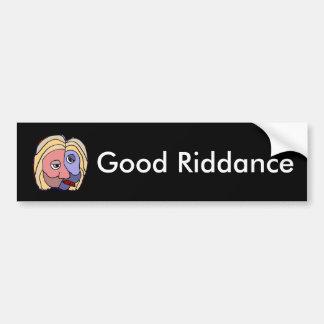 おもしろいでよい厄介払いのヒラリー・クリントンのバンパーステッカー バンパーステッカー