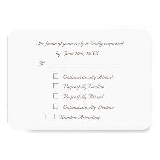 おもしろいでエレガントでカスタムなパーティRSVPの招待状カード カード