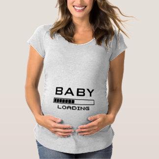 おもしろいでオタク系のな母性に荷を積んでいるベビー マタニティTシャツ