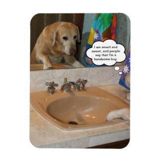 おもしろいでカスタマイズ可能で前向きな断言の犬か実験室 マグネット
