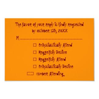 おもしろいでカスタムなハローウィンパーティRSVPの招待状カード カード