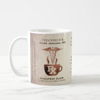 おもしろいでカスタムな規定RXのPodiatrist コーヒーマグカップ