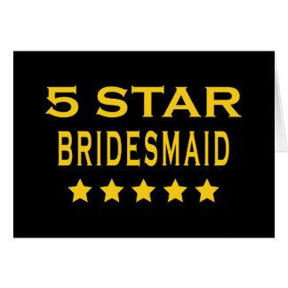 おもしろいでクールな新婦付添人: 5つの星の新婦付添人 カード