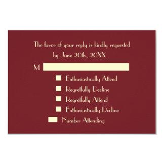 おもしろいでモダンで名前入りなパーティRSVPの招待状 カード