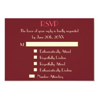 おもしろいでモダンで名前入りな結婚RSVPの招待状 カード