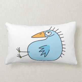 おもしろいでリラックスさせるで青い鳥のかわいい動物の漫画 ランバークッション