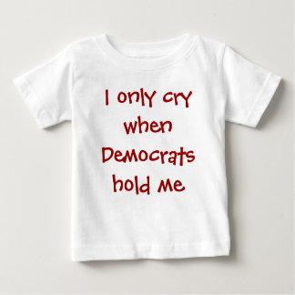 おもしろいで保守的なベビーのTシャツ ベビーTシャツ