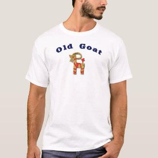 おもしろいで古いヤギのスカンジナビアのわらのヤギ Tシャツ
