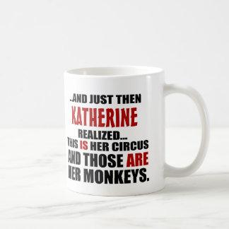 おもしろいで名前入りなサーカス猿 コーヒーマグカップ