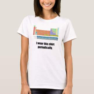 おもしろいで周期的なワイシャツ Tシャツ