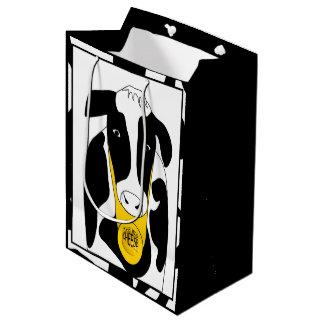 おもしろいで大きいチーズ牛MGB ミディアムペーパーバッグ