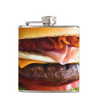 おもしろいで大きいハンバーガー フラスク