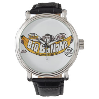 おもしろいで大きいバナナのゴム 腕時計