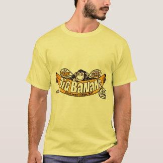 おもしろいで大きいバナナのゴム Tシャツ