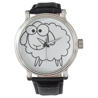 おもしろいで小さい子ヒツジの腕時計 腕時計