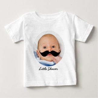 おもしろいで小さい電気かみそりの髭のカスタムの写真 ベビーTシャツ