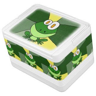 おもしろいで幸せなカエルの芸術 IGLOOクーラーボックス