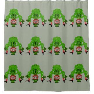 おもしろいで幸運な小妖精のシャワー・カーテン シャワーカーテン