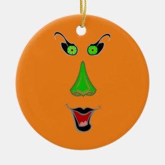おもしろいで悪賢い魔法使い-ハロウィンのクリスマスオーナメント セラミックオーナメント