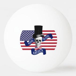 おもしろいで愛国心が強いアメリカ人 卓球ボール