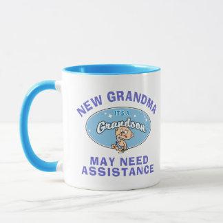 おもしろいで新しい祖母の新しい孫のTシャツ マグカップ