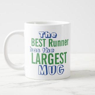 おもしろいで最も最高のなランナーの引用文の大きいマグ-ユーモアを走ること ジャンボコーヒーマグカップ