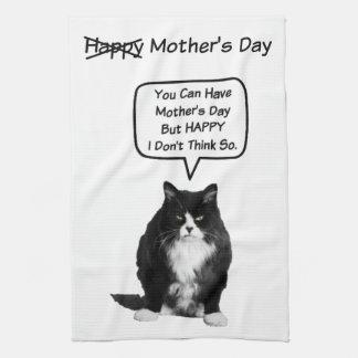 おもしろいで気難しい猫の母の日の台所タオル キッチンタオル