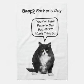おもしろいで気難しい猫の父の日の台所タオル キッチンタオル