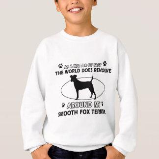 おもしろいで滑らかなフォックステリア犬のデザイン スウェットシャツ