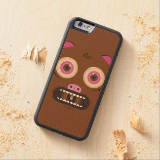 おもしろいで熱狂するなモンスター CarvedメープルiPhone 6バンパーケース