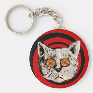 おもしろいで熱狂するな猫 キーホルダー
