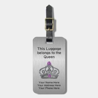 おもしろいで王室のな女王の王冠旅行 ラゲッジタグ