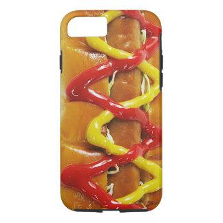おもしろいで現実的なホットドッグの携帯電話の箱 iPhone 8/7ケース