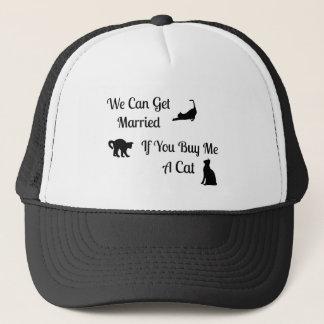 おもしろいで結婚したな猫のトラック運転手の帽子 キャップ