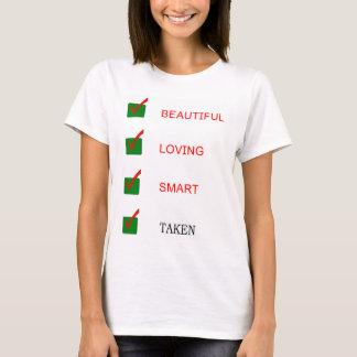 おもしろいで美しい愛する頭が切れるな取られたガールフレンド Tシャツ