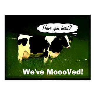 おもしろいで考えるな牛 ポストカード