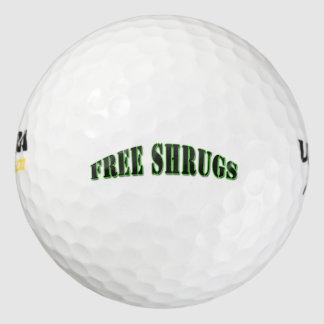 おもしろいで自由な肩をすくめるしぐさのゴルフ・ボール ゴルフボール