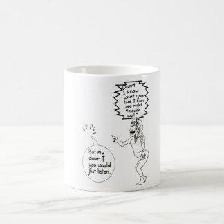 おもしろいで見えない夫婦の漫画のマグ コーヒーマグカップ