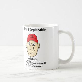 おもしろいで誇りを持ったで嘆かわしい政治漫画 コーヒーマグカップ