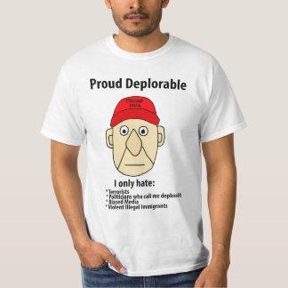 おもしろいで誇りを持ったで嘆かわしい政治漫画 Tシャツ