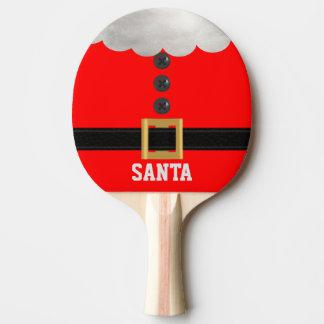 おもしろいで赤いクリスマスのサンタのカスタムの卓球ラケット 卓球ラケット